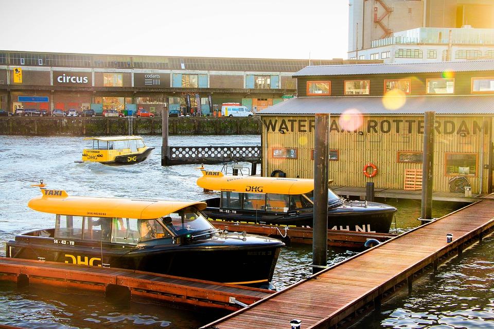 Rotterdam, Netherlands, River, Sunlight, Camera, Water