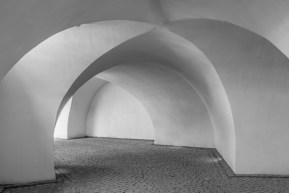 Vault, Away, Gang, Old, Round Arch, Architecture