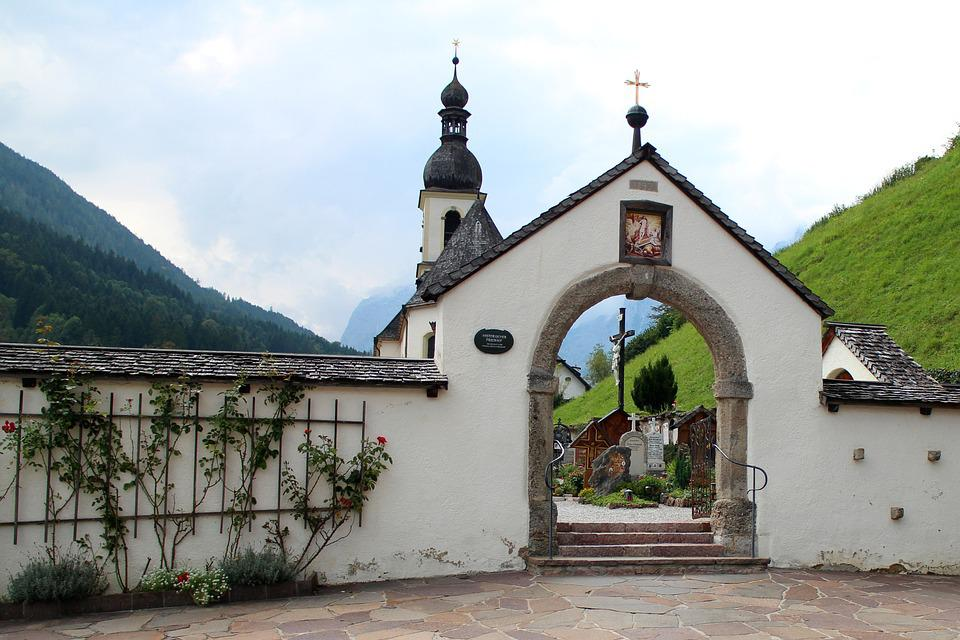 Input, Cemetery, Gate, Round Arch, Wall, Demarcation