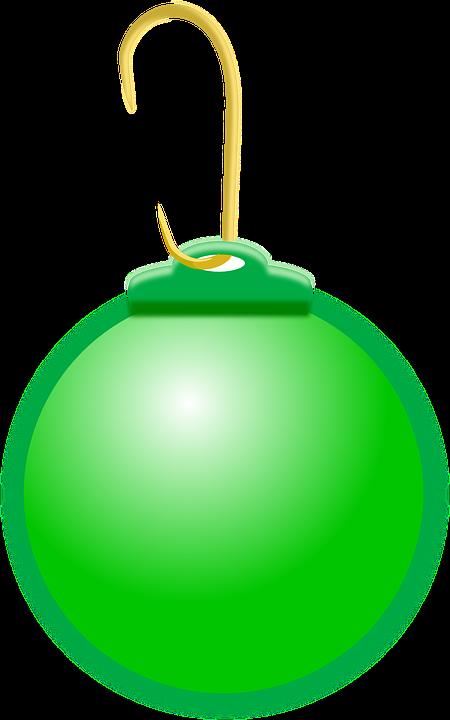 Christmas Ball, Green, Christmas, Decoration, Round