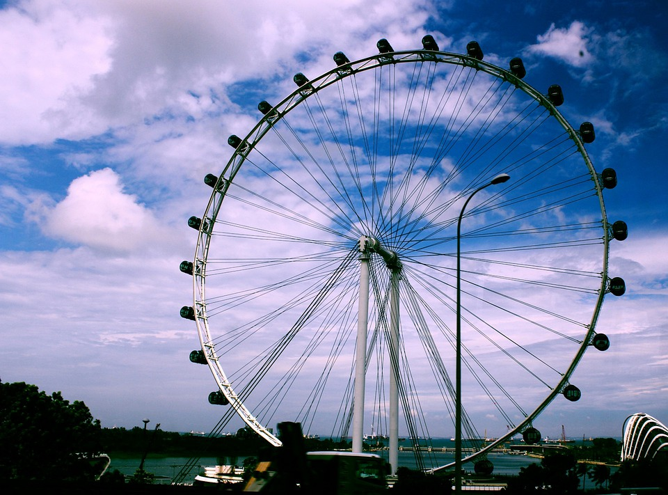 Singapore Flyer, Highs, Ride, Amusement, Metals, Round
