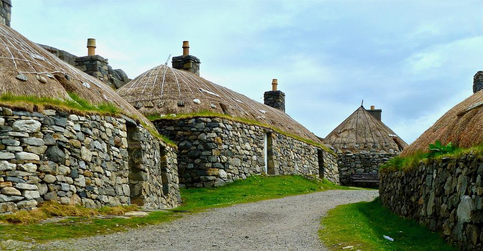 Houses, Ancient, Prehistoric, Round, Stone, Traditional