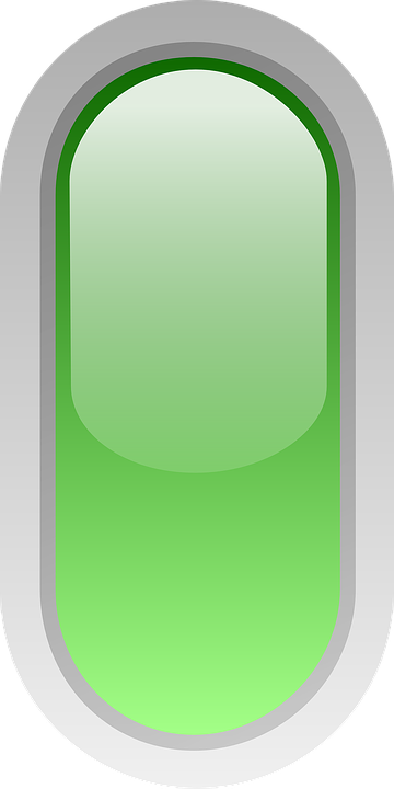 Rounded, Green, Led, Signs, Button, Style