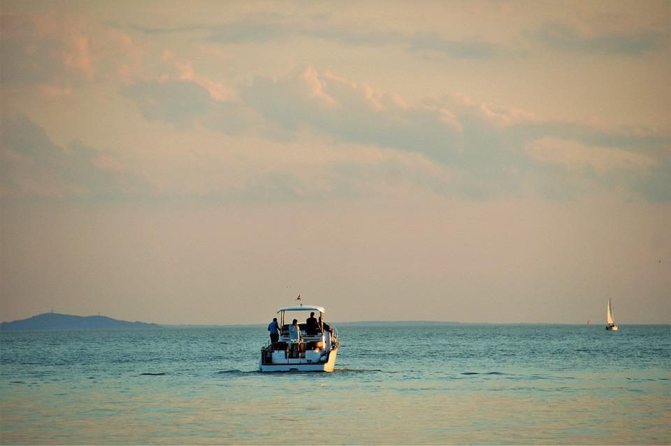 Balaton, Lake, Boat, Rowboat, Water-level, Evening