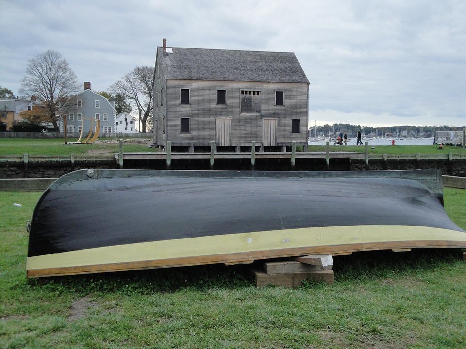 Boat, Rowing Boat, Lifeboat, Rowboat, House, Barn