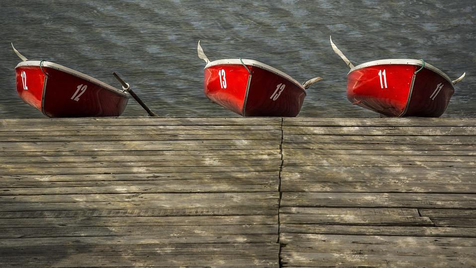 Boats, Rowboat, Water, Rowing, Lake, Recreation, Summer