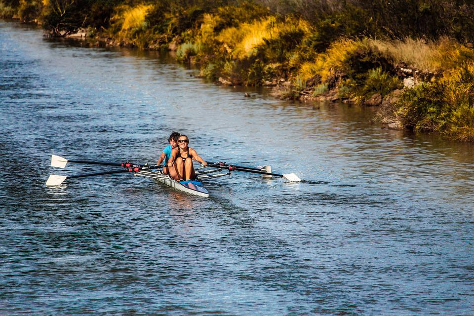 Rowing, Rowing Boat, Channel, Water, Flow, River, Canal
