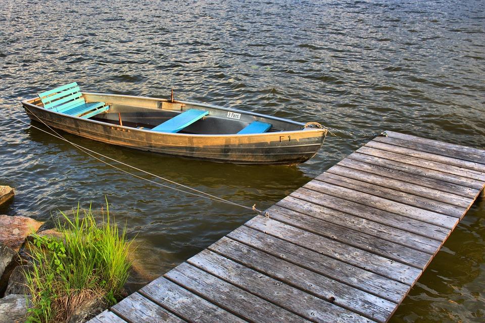 Kahn, Boot, Web, Wood, Lake, Water, Rowing Boat