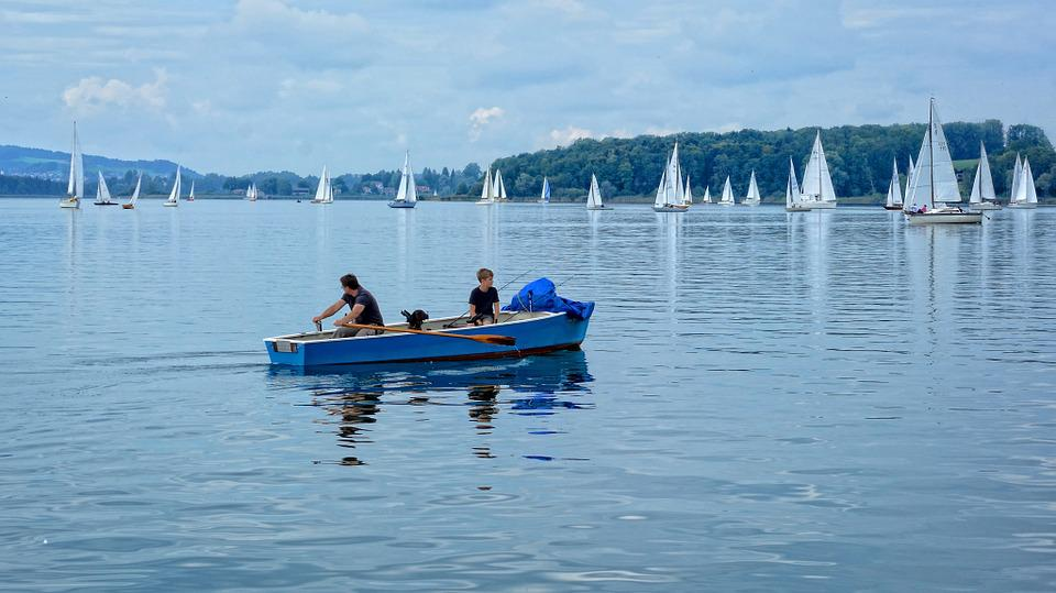 Rowing Boat, Rowing, Sailing Boat, Boot, Sail, Lake