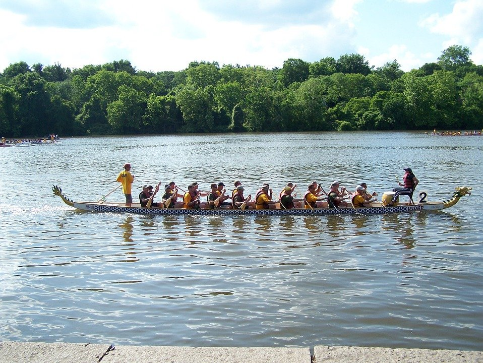 Rowboat, Water, Water Sports, Rowing Boat, Rowing