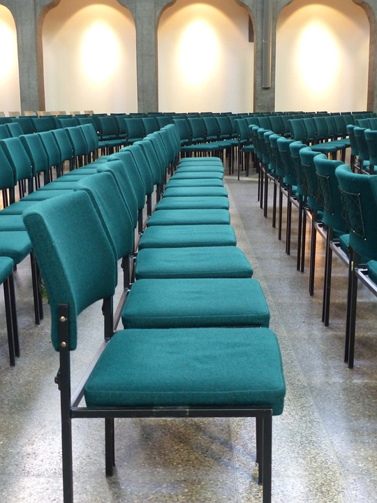 Chairs, Chair Series, Rows Of Seats, Green, Seat, Hall
