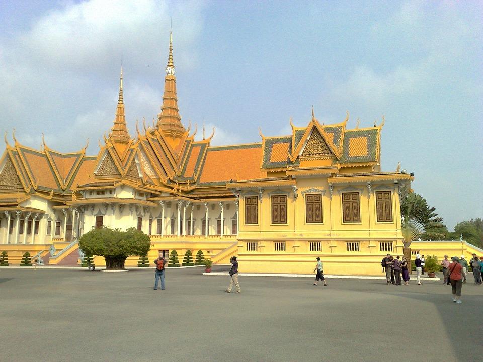 Phnom Penh, Cambodia, Royal, Palace, Building, Landmark