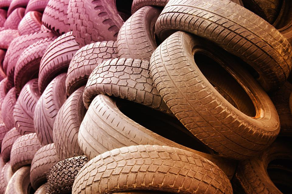 Tyres, Warehouse, Dump, Waste, Separation, Rubber
