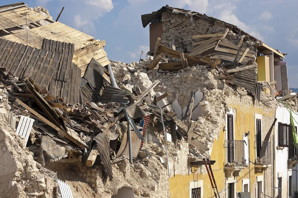 Earthquake Rubble Collapse Disaster House Roads