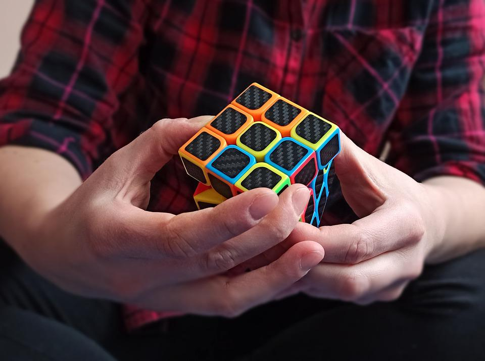 Hands, Rubik's Cube, Play, Solve, Puzzle, Cube