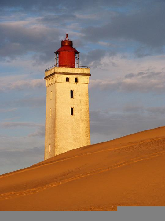 Lighthouse, Rubjerg Knude Lighthouse, Sand Dunes