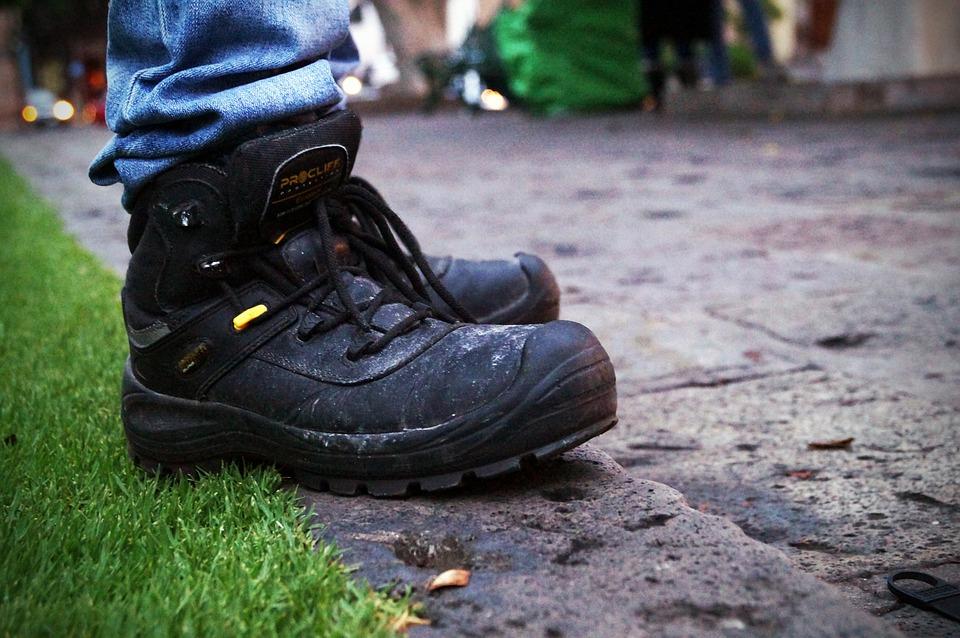 Boots, Street, Sidewalk, Heavy, Rude, Lifestyle, Black
