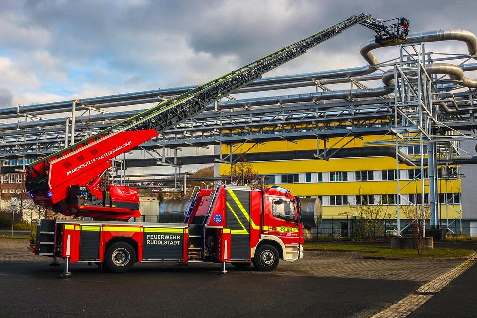 Turntable Ladder, Rosenbauer, Fire, Rudolstadt