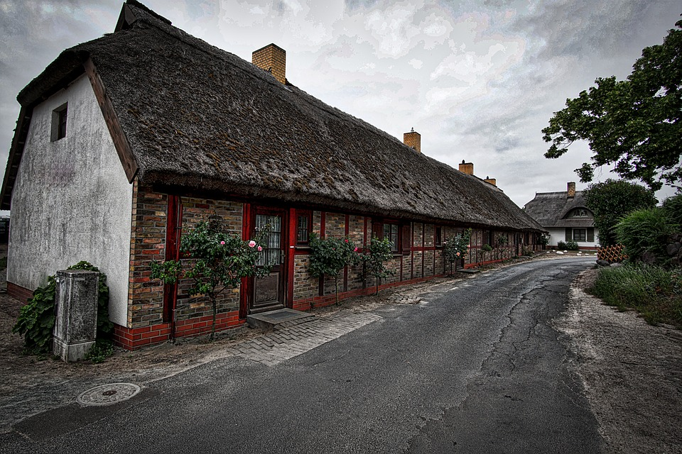 Fisherman's House, Rügen, Thatched Roof, Baltic Sea