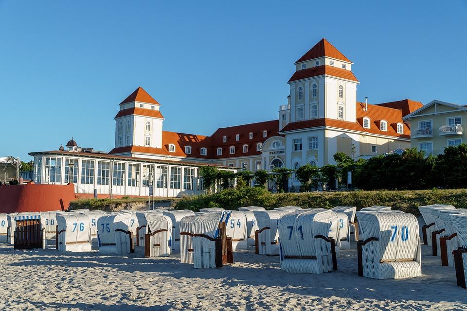 Kurhaus, Binz, Beach Chair, Rügen Island, Beach