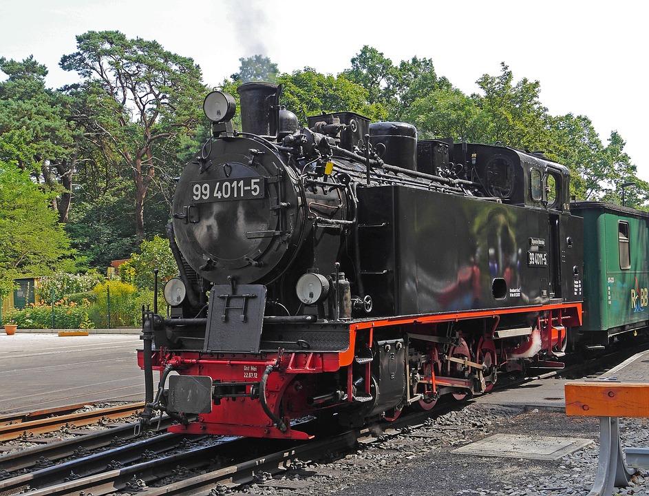 Steam Locomotive, Narrow Gauge, Rügen, Rasender Roland