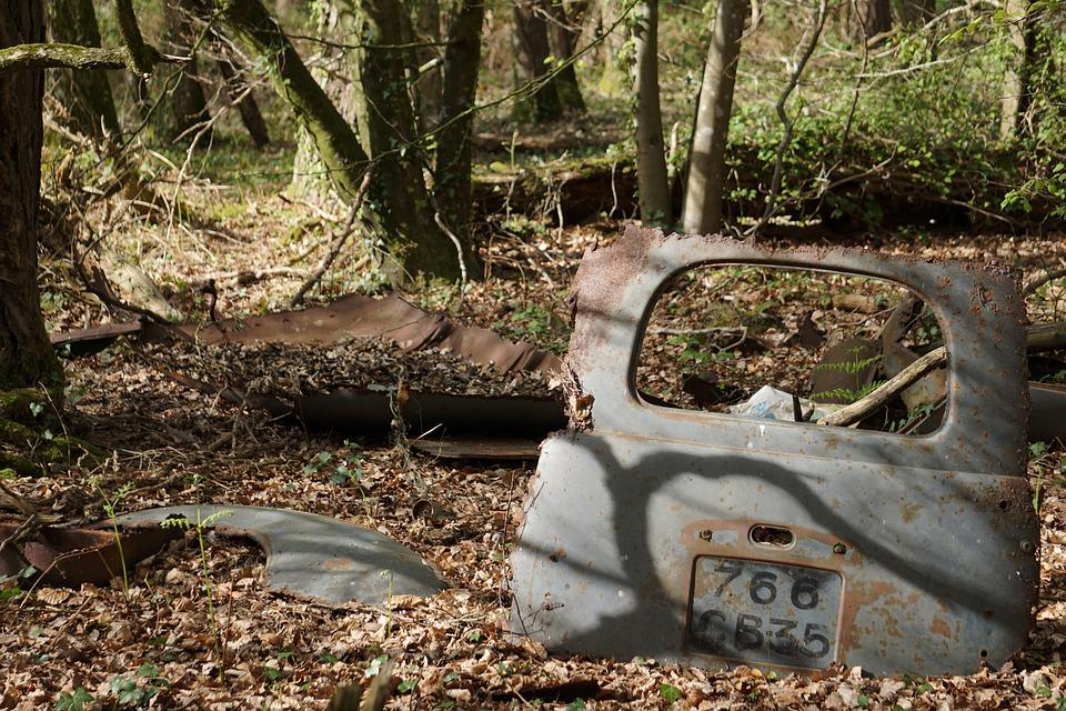 Car, Carcass, Abandonment, Wreck, Rugged, Abandoned