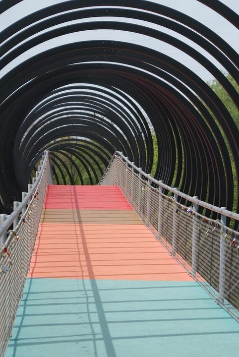 Architecture, Ruhrgebiet Bridge, Rehbergerbrücke