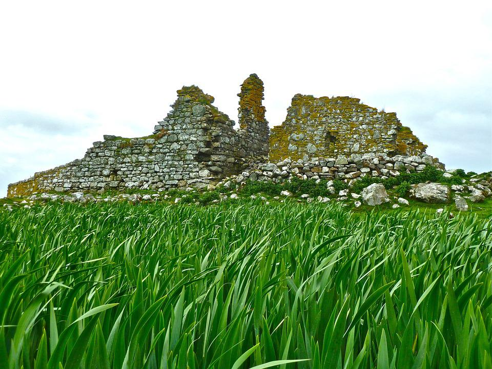 Ruins, Grass, Ruin, Ancient, Historic, Ancient Ruins