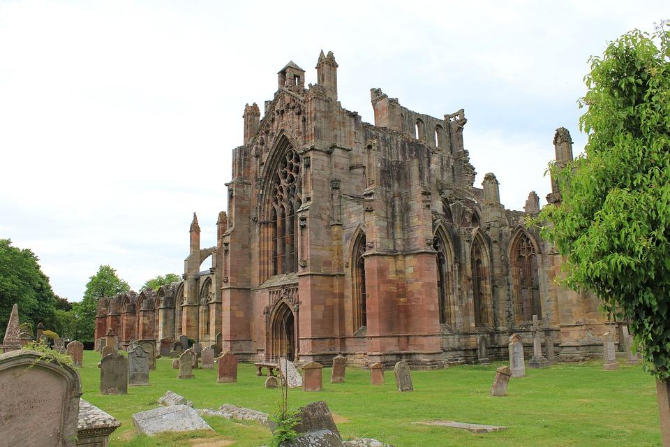 Melrose Abbey, Historical, Scotland, Ruin