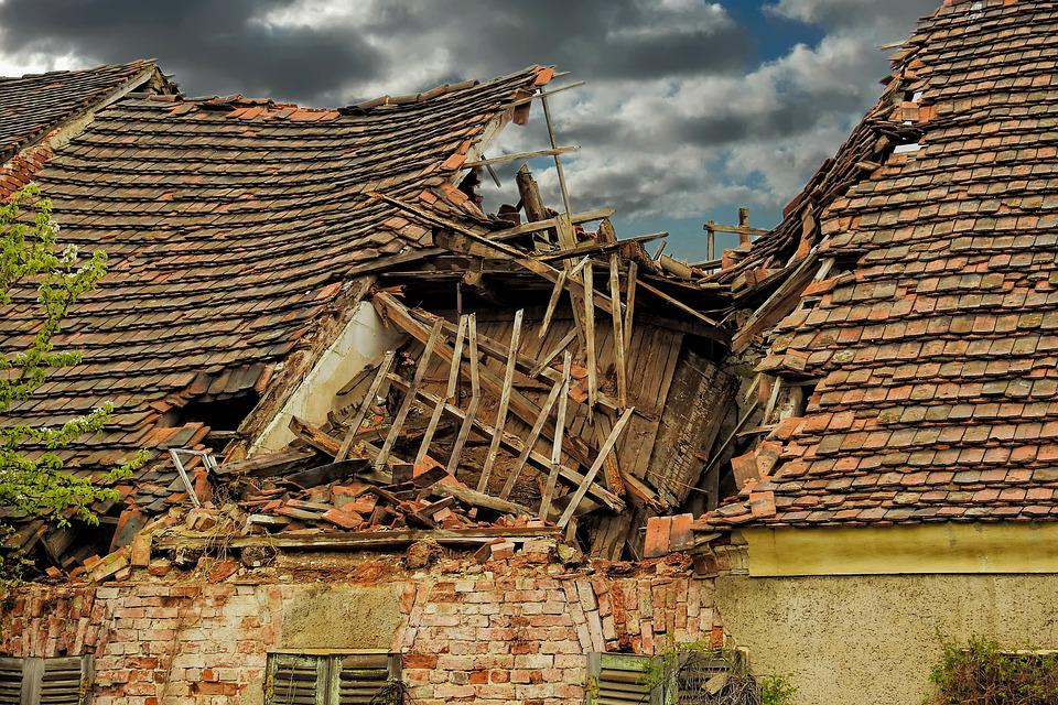 Roof, Ruin, Old, Home, Architecture