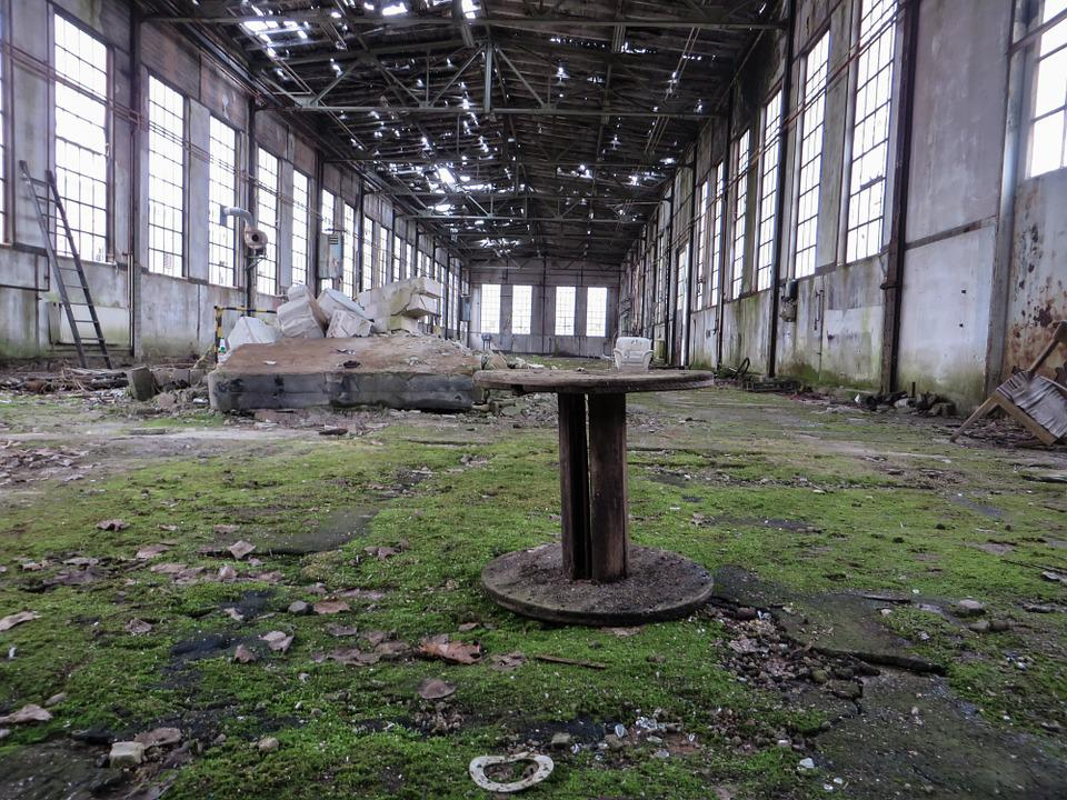 Lapsed, Decay, Ruin, Old Factory, Hall, Leave, Morbid