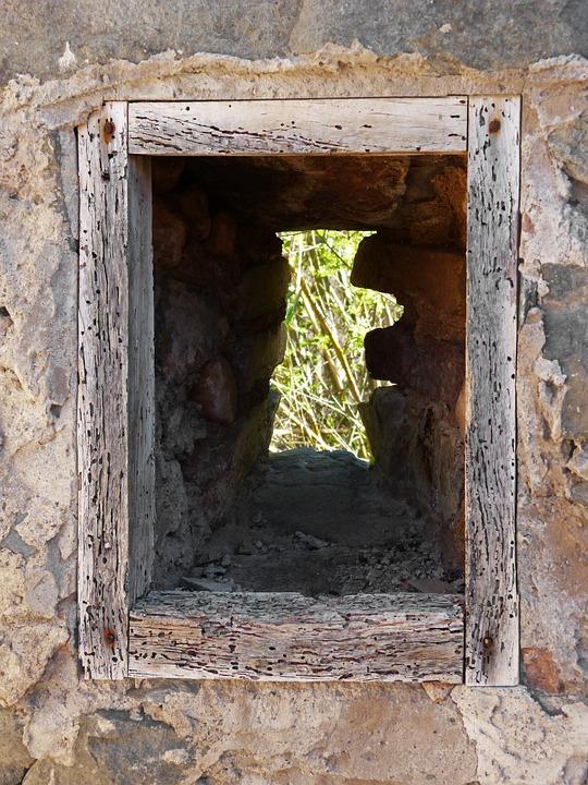 Window, Old, Ruin, Hope, Little Window