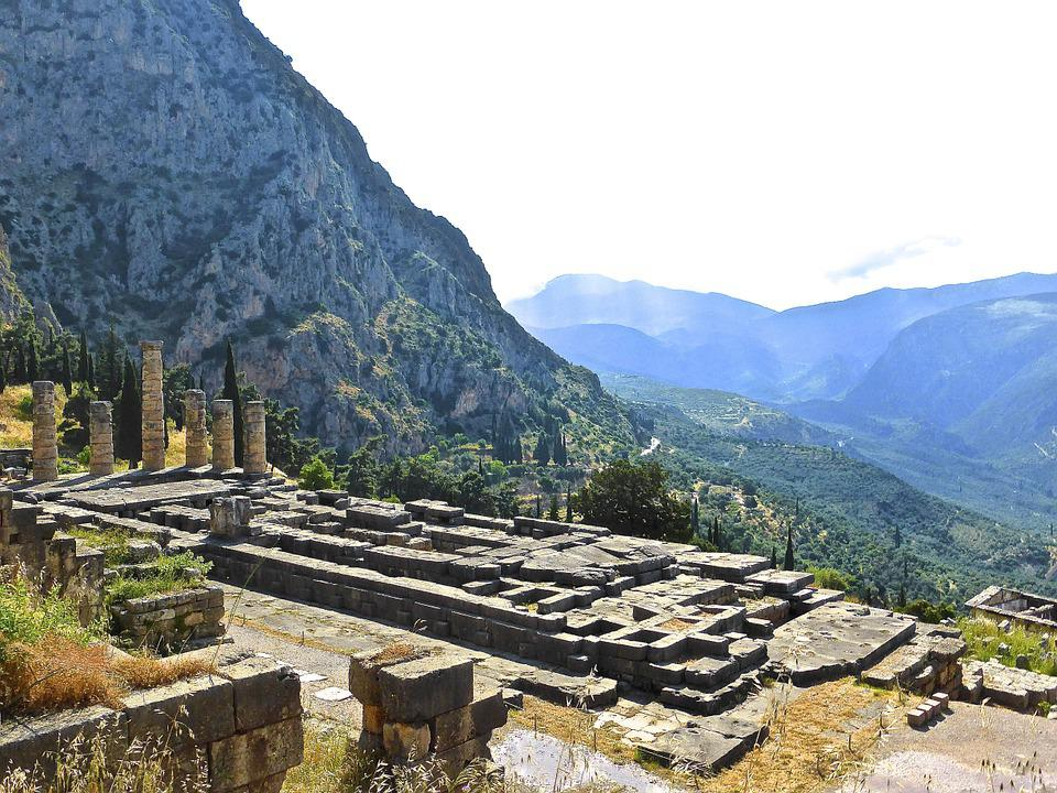 Delphi, Ruins, Greek, Mountain, Ancient, Architecture