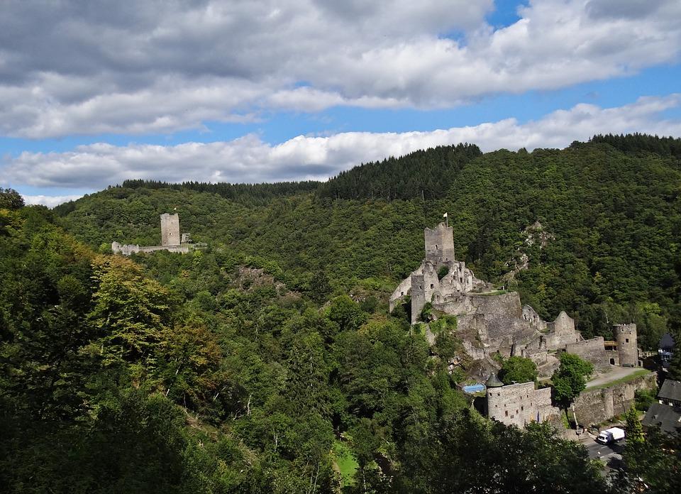 Castle, Ruins, Manderscheid, Landscape, Germany