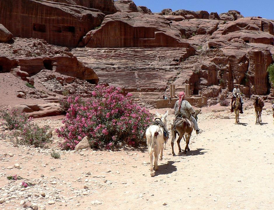 Jordan, Petra, Amphitheater, Roman, Ruins, Civilization