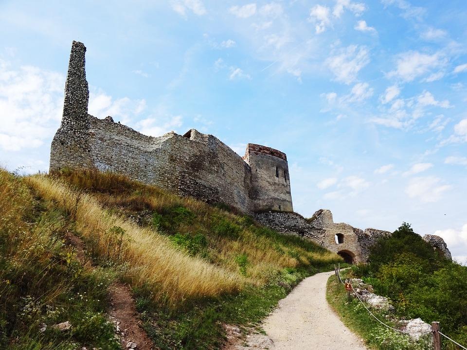 čachtice, Slovakia, Castle, Ruins, Summer, Tower