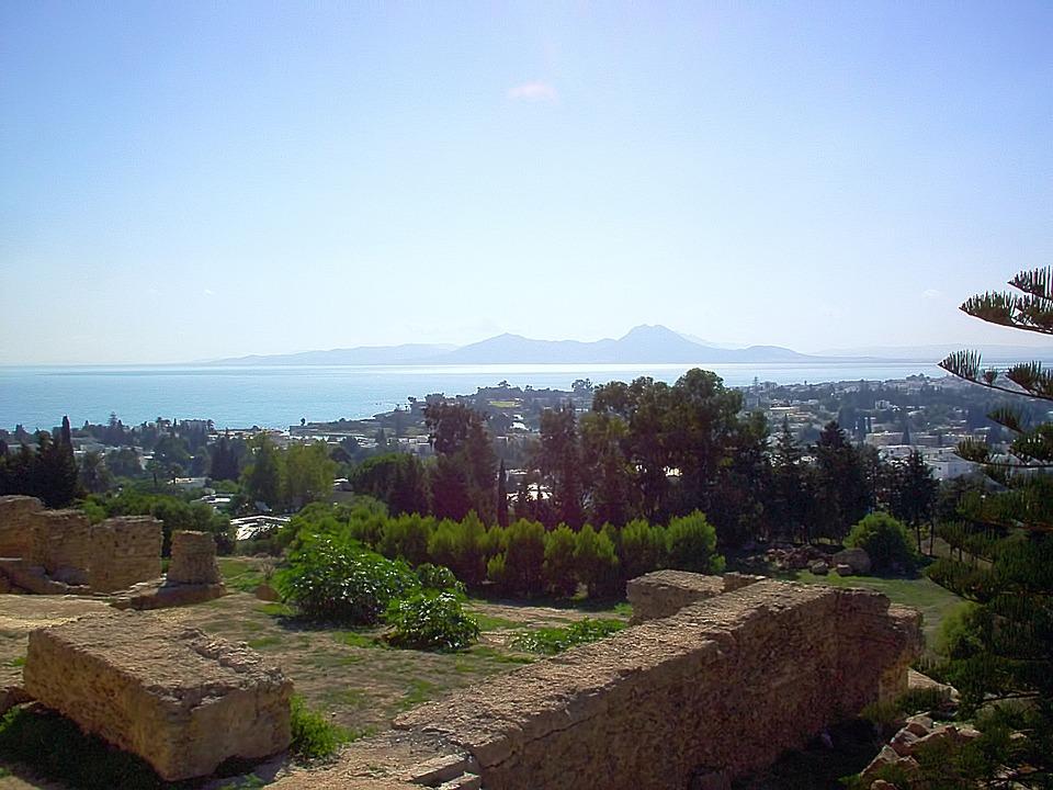 Carthage, Ruins, View, Sunny, Tunisia