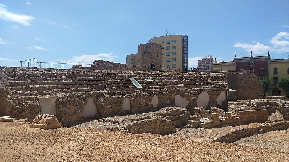 Ruins, Monuments, Tarragona, Roman Theatre, Spain