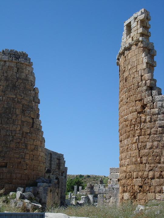 Two Towers, Ruins, Perge