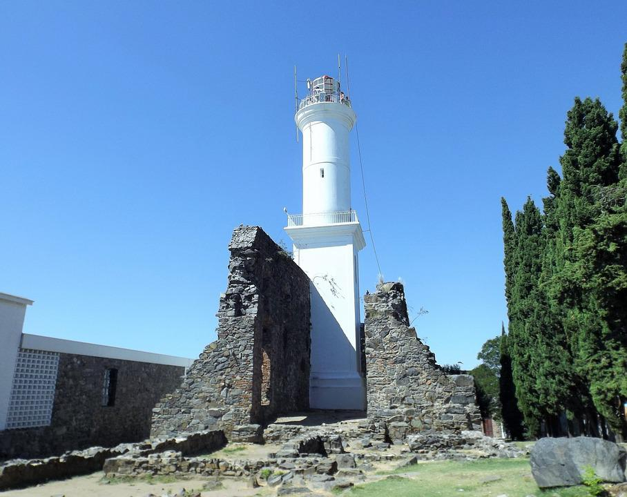 Lighthouse, Old, Ruins, Cologne, Uruguay, Tourism