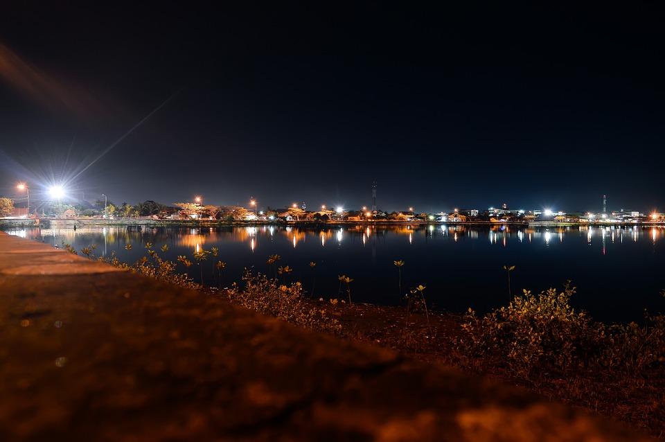 Rumen, Aceh, Lhokseumawe, Indonesia, Night, Light