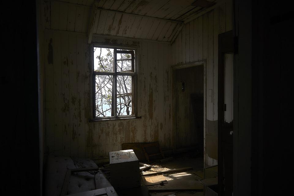 Window, Ruined, Sagging, Run-down, Decay, Old, Broken