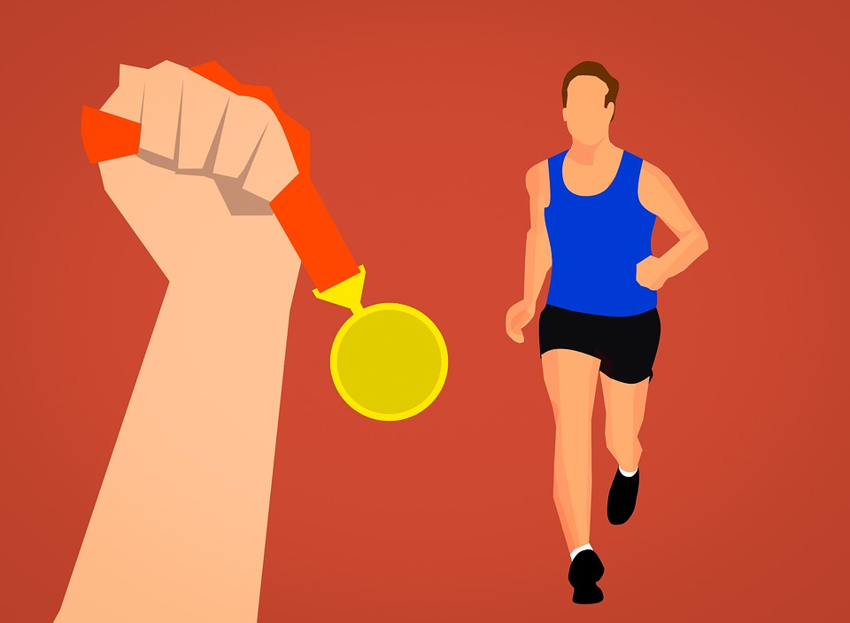 Medal, Award, Reward, Running, Man, Sport, Olympics