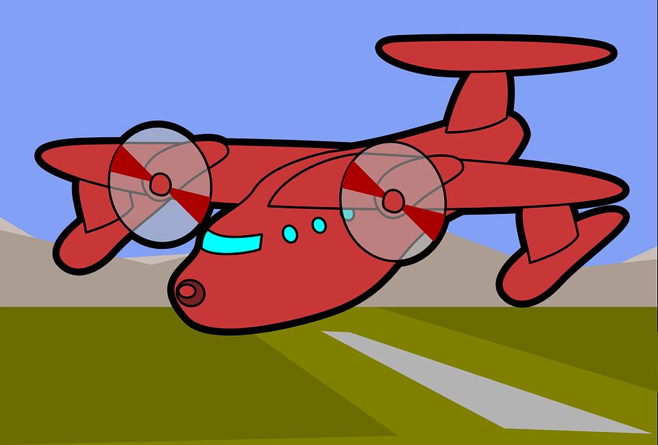 Airplane, Plane, Field, Landing Field, Runway