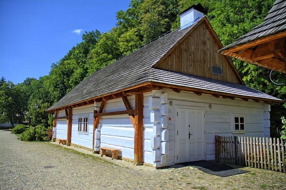 Sanok, Open Air Museum, Rural Cottage, Wooden Balls