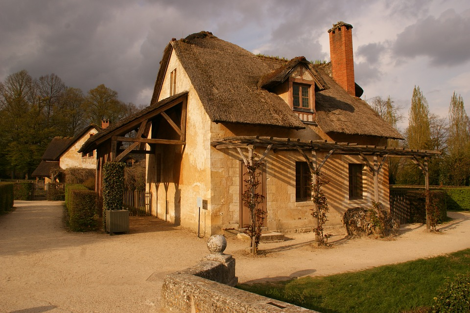 Farmhouse, Traditional, Rustic, Rural, Building, France