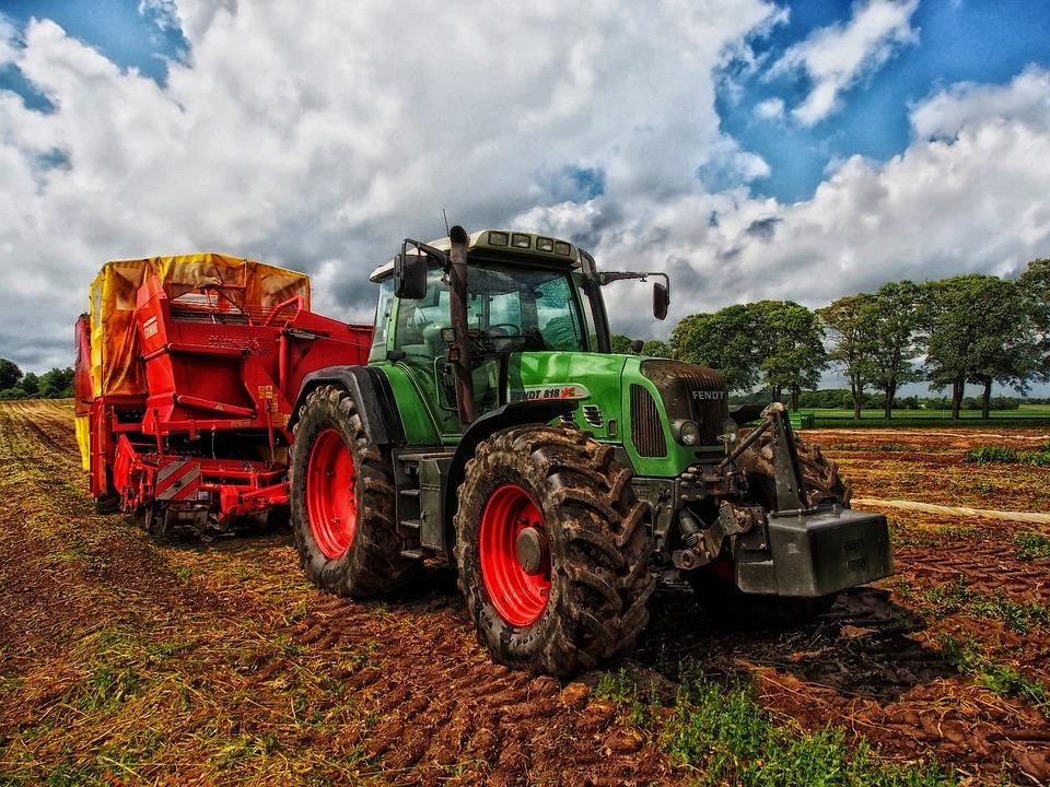 Tractor, Grain Mixer, Rural, Farm, Country, Countryside