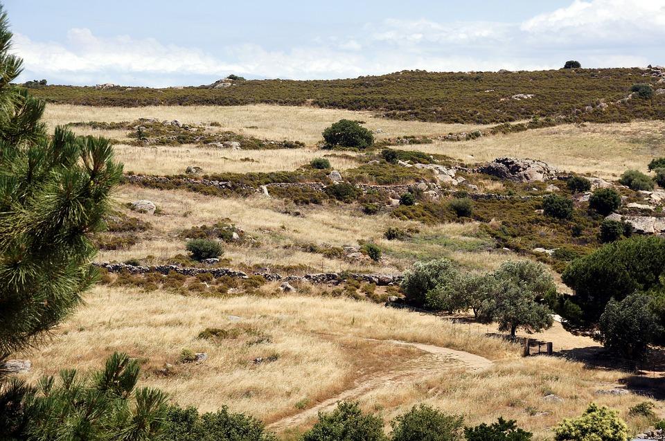 Corsica, Fields, Sky, Nature, Landscape, Hill, Rural