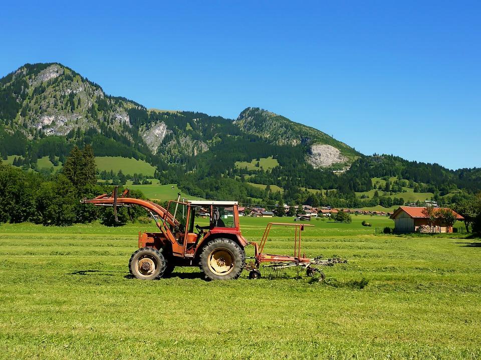 Bavaria, Germany, Field, Farm, Rural, Tractor