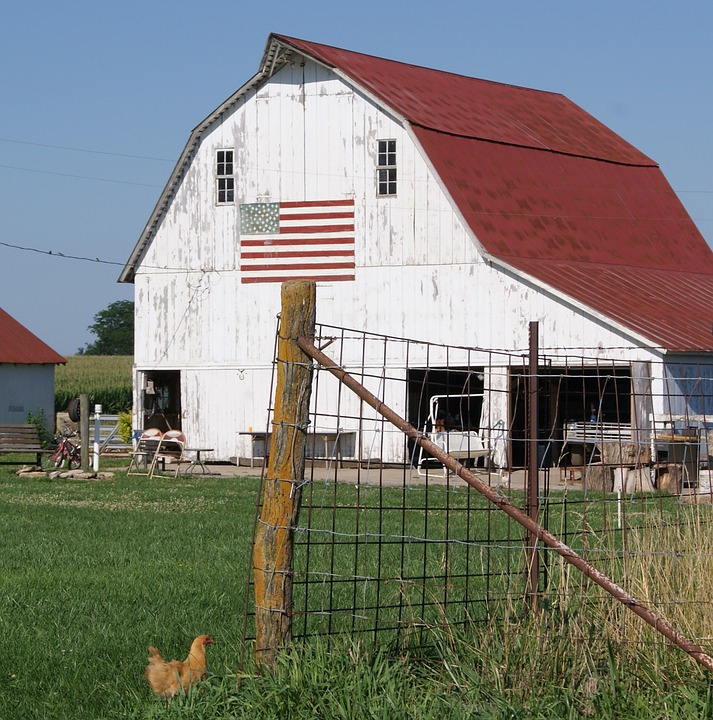 Barn, Farm, Rural, Agriculture, Farming, Vintage
